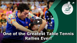 Best table tennis ralley