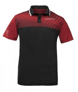 "DONIC ""Polo-Shirt Makro"" (Red/Black)"