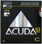 Donic Acuda S1 Turbo - Latest Glue effect rubber! Huge spin!