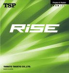 TSP RISE - latest glue effect rubber from TSP
