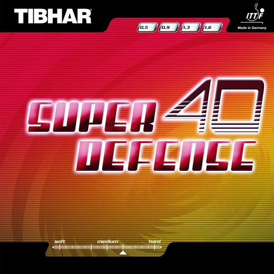 Tibhar Super 40 Defense (0.5/0.9mm) - Click Image to Close
