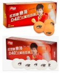 New Material DHS 3 star D40+ plastic balls (box/10) White/Orange