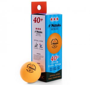 Nittaku 3-Star Nexcel 40+ Orange Balls - box/3 ITTF approved