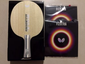 Butterfly Beginner Custom bat - Timo Boll All + Flextra rubber