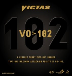 Victas VO>102 - fast a spinny short pimple - soft sponge!