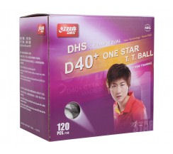 DHS 1 star D40+ 120 Balls (seam), white/orange
