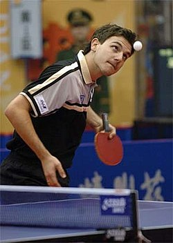 Timo Boll table tennis bat