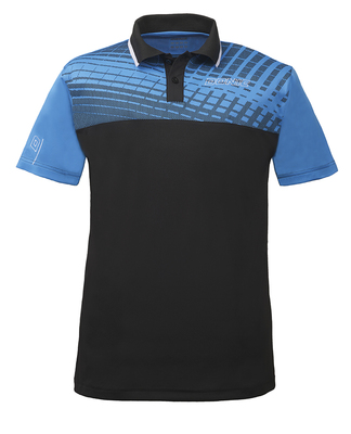 "DONIC ""Polo-Shirt Makro"" (Diva Blue/Black) - Click Image to Close"