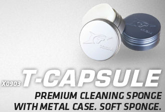 XIOM T-Capsule - premium cleaning sponge + metal case - Click Image to Close